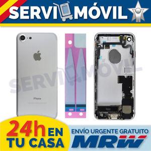 Chasis-Trasero-Flex-Botones-para-Iphone-7-Plata-Gris-Carcasa-Piezas-Cable-Tapa