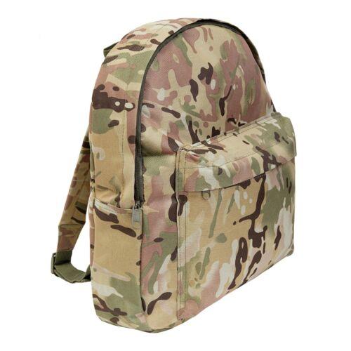 Ideal School Bag Kids Army Multi Terrain Camouflage Rucksack 15 Ltr
