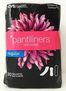 Details about CVS Pharmacy Unscented Regular Pantiliners Compare to  Carefree Thin 20ct