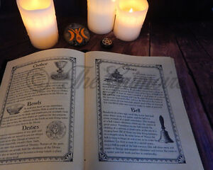 Details about 280 page Book of Shadows, Wicca, Witchcraft, Real Book of  Shadows Spells