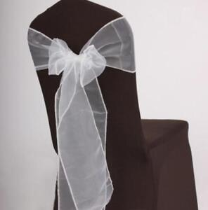 25x-White-Organza-Chair-Sashes-Bows-Ties-Wedding-Banquet-Party-Venue-Decoration