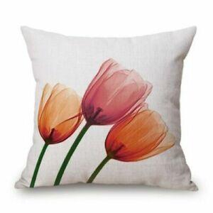 45x45cm Modern Ink Painting Flower flax Throw Pillow Case Waist Cushion Q7C5