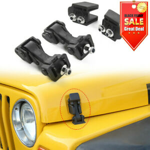 Car Hood Latch Rubber Catch Release Kit For Jeep Wrangler TJ 1997-2006 Factory