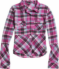New! Fox Racing Ladies X-Large After School Shirt Button up Fuchsia 100% cotton