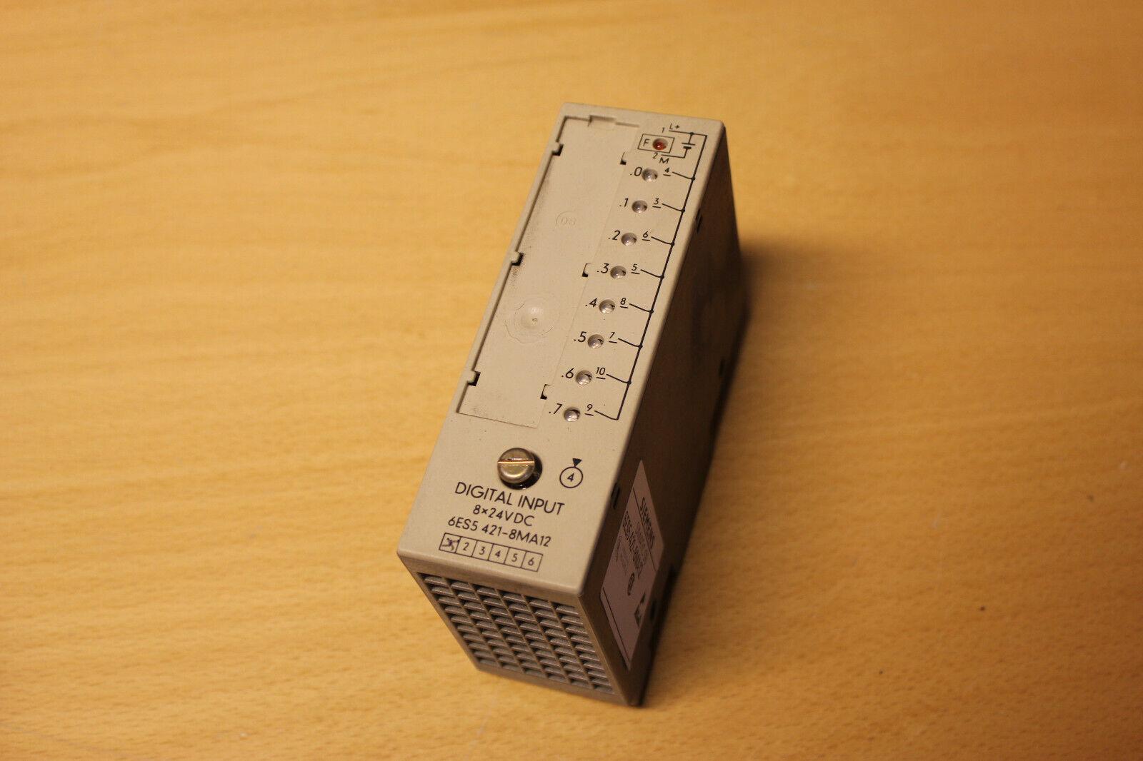 Siemens Simatic S5 6ES5 421-8MA12 - Digital Input 8x24V DC PLC - EXPRESS SHIPPIN