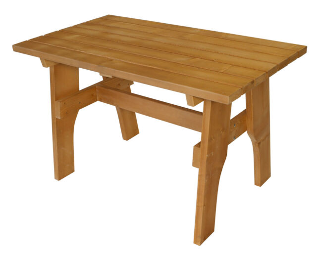 Gartentisch Holztisch Gartenmobel Tisch Freital 70x120cm Massiv Holz Impragniert