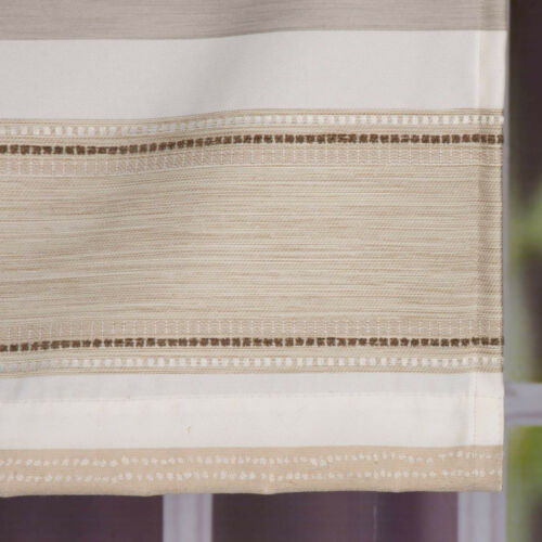Fertigvorhang mit Band Vorhang ELPASO creme braun 146x245cm