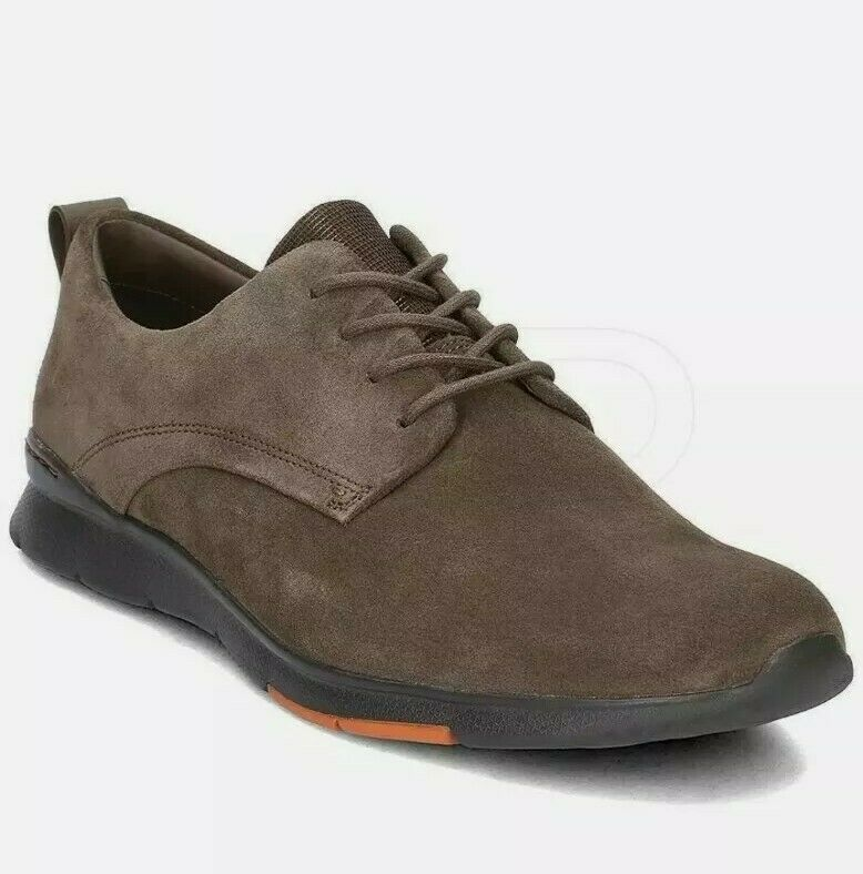 New Clarks Size 10.5 Mens Tynamo Walk Mushroom Suede Leather Casual Comfy Shoes