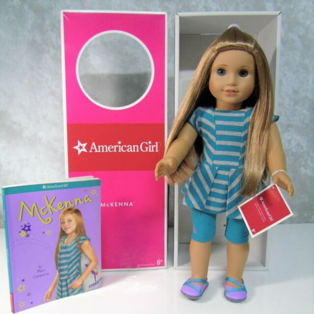 """NEW 18"""" American Girl MCKENNA DOLL Of Year 2012 Meet Outfit Shoes Panty Book Box"""