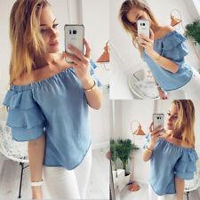 Fashion Women Summer Vest Tops Sleeve Shirt Blouse Casual Tank Tops T-Shirt L Q9