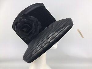 Hat Box Debenhams Black Hat  (10184)