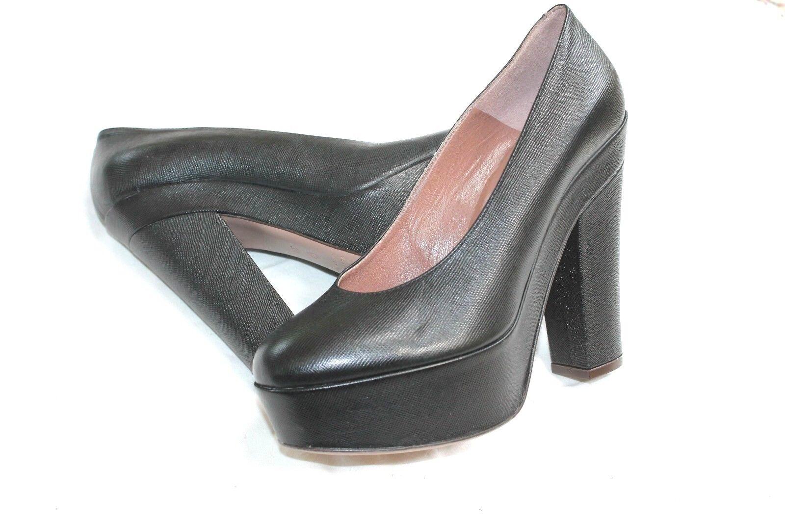 L'Autre Chos Pebbled Pebbled Pebbled Leather Mega Chunky Platforms Heels 39 Size 8.5 OL'Autre 92ff25