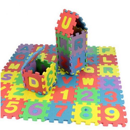 Foam Alphabet Letter Number Carpet Rug Toy Baby Kids Safety Playroom Mat Floor