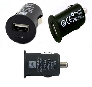 Black Usb Car Charger Adapter For Iphone Ipod Samsung