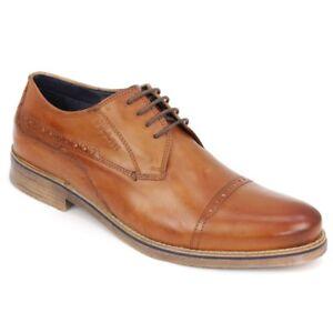Details zu Bugatti Herren Schuhe Schnürschuhe Cognac braun 311 29902 3500 6300
