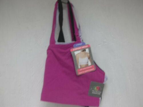 Fruit Of The Loom Women/'s 3-Pack Signature Sport Bras Ass/'t Colors X-Large New !