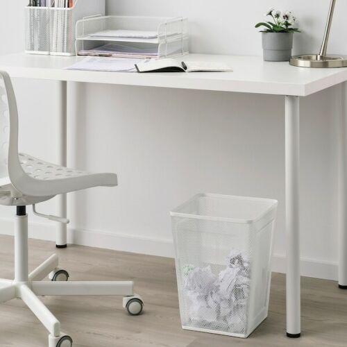 Papierkorb Mülleimer Papiereimer Abfalleimer Büroeimer Stahl Weiß 26x26x35