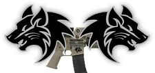 AR15 Lower Tribal Wolves Decals / Magazine Stickers / Mag Black Ops (2x) Wolf