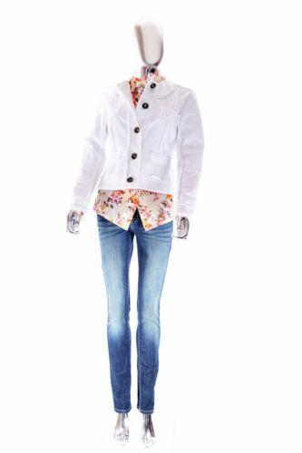 Los Turk Edge Raw White Stretchy Trina Angeles Blazer Jacket Pure Størrelse 6 5qHdwUBa