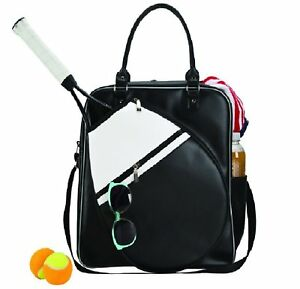 Details About Tennis Bag For Women Travel Duffel Black And White S Tote Sports Gym Carry
