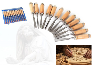 12pcs-Professional-8-039-039-Wood-Carving-Chisel-Gouge-Set-Lathe-Woodworking-Tools