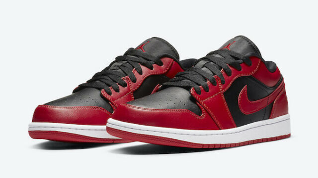 Nike Air Jordan 1 Low Reverse Bred 553560-606 GS Size 7y 100 Authentic