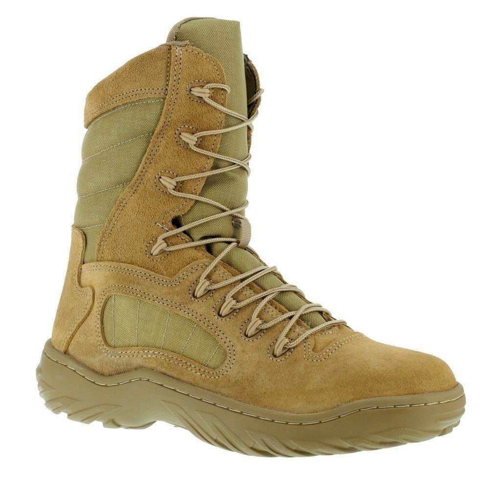 Donna Uomo Unisex Fusion Max Tan Reebok A Military Tactical Work Boot Wide  A Reebok Made 414252