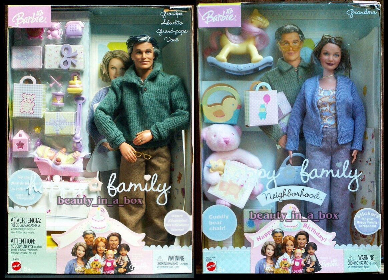 El Abuelo Abuela Muñeca familia feliz Muñeca Barbie barrio nunca quitado de la Caja