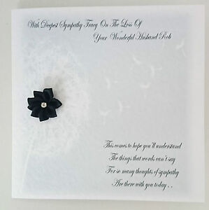 Personalised bereavement sympathy card condolence on the loss of image is loading personalised bereavement sympathy card condolence on the loss altavistaventures Choice Image