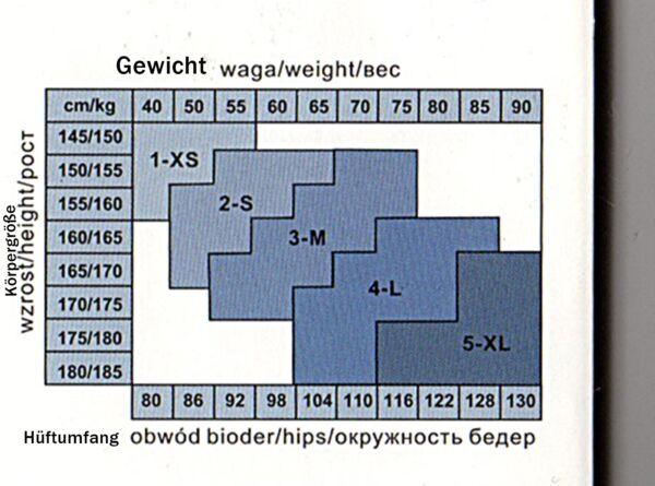 Push-up figurformende Mieder Strumpfhose 100 den Bauch-weg Taille schwarz S-XL