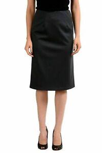 Maison-Margiela-4-Wool-Gray-Women-039-s-Pencil-Skirt-US-M-IT-42