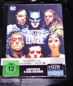 Justicia League 4K Limitada Mediabook 4K Ultra HD blu ray + Nuevo y Emb. Orig.