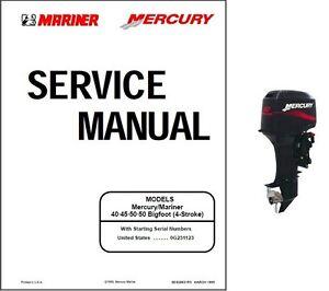 mercury mariner 40 45 50 50 bigfoot 4 stroke outboard motor rh ebay com mercury 50hp 4 stroke manual mercury 50 hp 4 stroke specifications