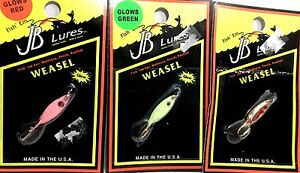 JB-Fishing-Lures-WEASEL-Choice-of-Color-One-Package