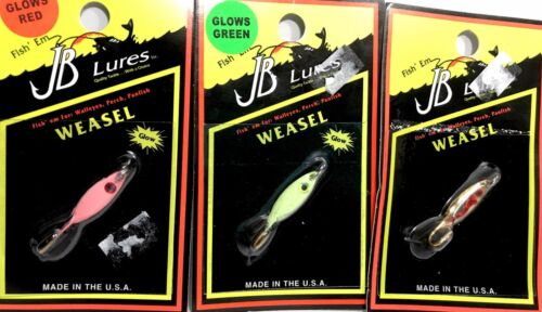 One Package JB Fishing Lures WEASEL Choice of Color