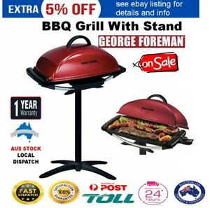 Electric-BBQ-with-Stand-GEORGE-FOREMAN-Portable-Grill-Barbecue-Outdoor-Non-Stick