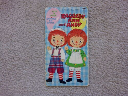 "VINTAGE RAGGEDY ANN AND ANDY FIRST DOLL BOOK WHITMAN 1970 ""COLLECTIBLE"""