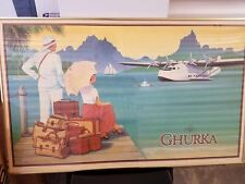 Ghurka Leather Luggage Retail Advertising Art Deco Poster Vintage 1988 M. Dolack