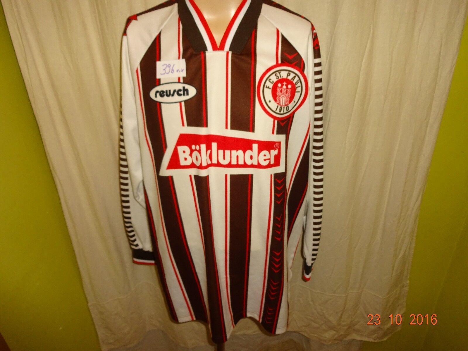 FC TOP St.Pauli Original Reusch Langarm Trikot 1995/96