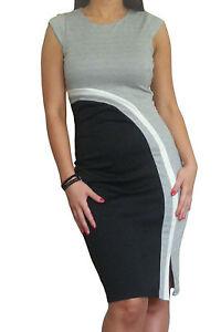 Ladies-Office-Womens-Dress-Work-Wear-Bodycon-Pencil-Stretch-Midi-Size-8-10-12-14