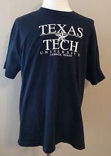 Texas Tech University T-Shirt Lubbock Texas Size XL Red Raiders Black Cotton EUC