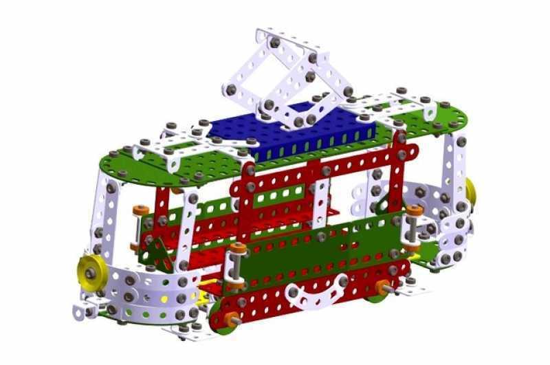 Metal construction construction construction set Merkur M7, 5,1 kg, NEW, made in CZECH REPUBLIC 2c018c