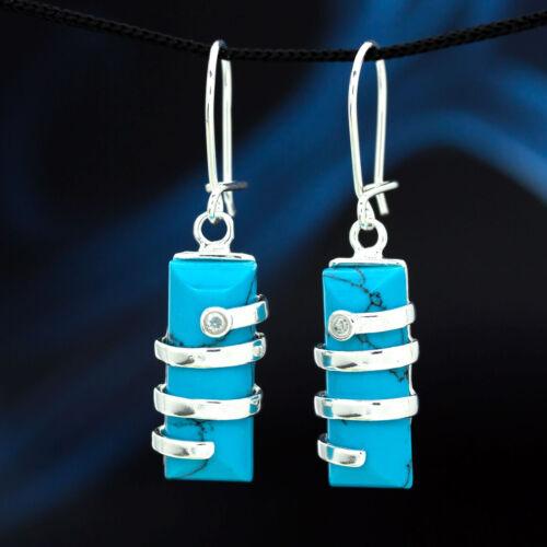Türkis Silber 925 Ohrringe Damen Schmuck Sterlingsilber H302
