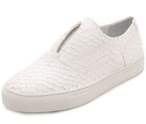 Vince Women's White Snakeskin Slip On Sneaker Sz 11 6439