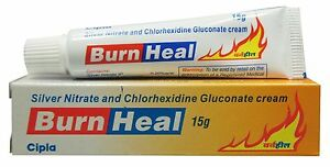Silver Nitrate And Chlorhexidine Gluconate Cream Burn Heal 15 Gm Ebay