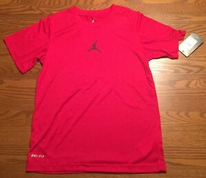 25dda084100 Nike Air Jordan Boys T Shirt Short Sleeve Dri Fit Performance ...