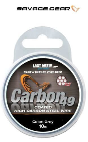 Savage Gear Carbon 49 Strand Wire*3 Weights*Pike Predator Lure Trace Making
