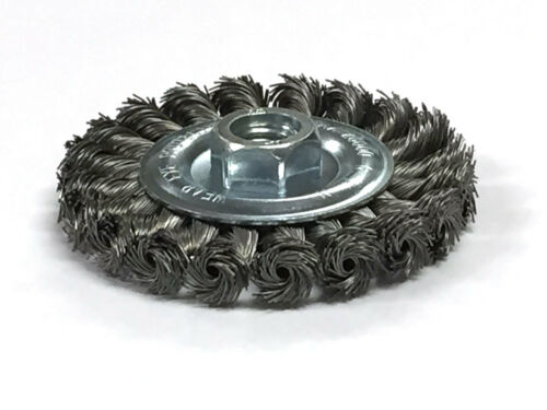 """Carbon Steel Wire 4/"""" Knot Wheel Wire Brush"""