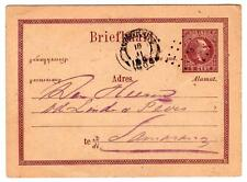 1884 Netherland Indies 5c stationery postcard with 48 in dotted diamond