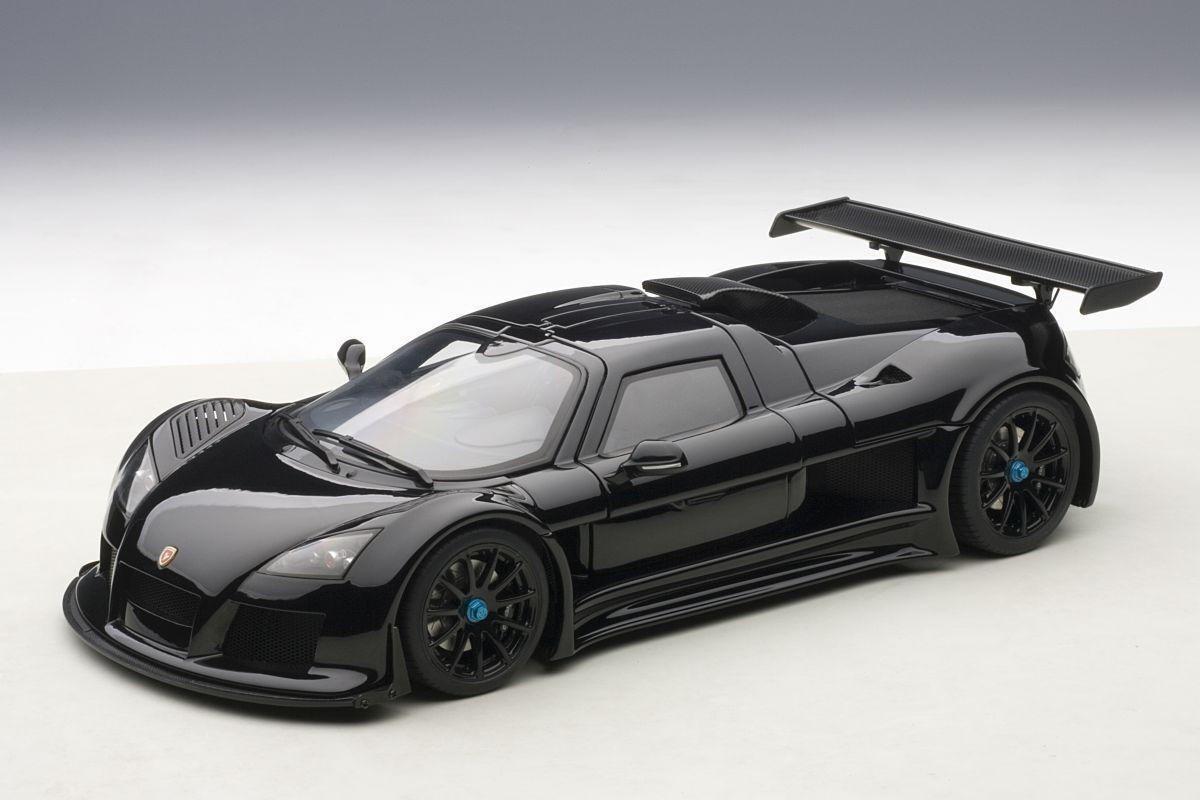 AUTOart AUTOart AUTOart 1/18: 71301 Gumpert Apollo s (2005), noir, super voiture de sport   Convivial  0f1352
